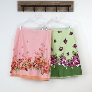 Liz Claiborne floral skirts